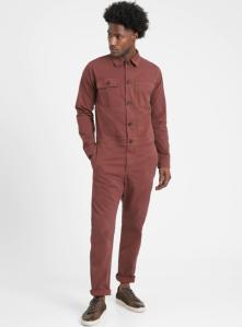 best overalls for men -  Banana Republic Heritage Flight Jumpsuit in Chocolate Brown