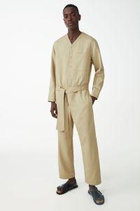 COS Organic Cotton Linen-Mix Boiler Suit