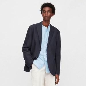 Uniqlo Men Linen Blended Blazer