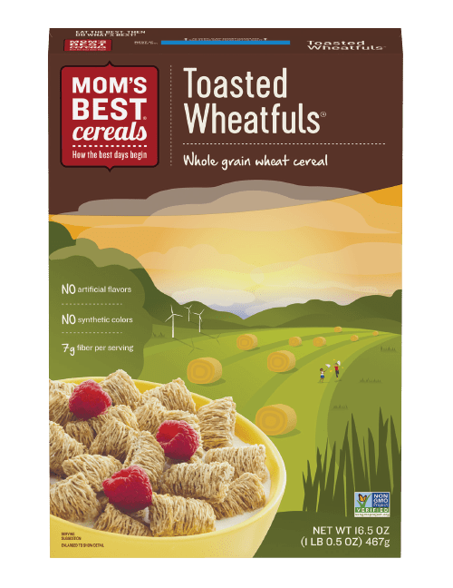 moms best toasted wheatfuls, health cereal for adults