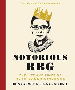 notorious rbg book, gifts for her