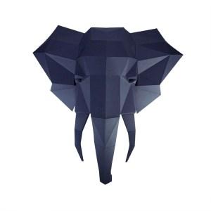 Papercraft World Elephant Head Wall Art