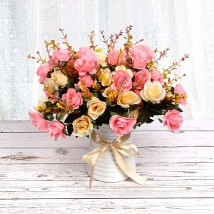 artificial rose bouquet, gifts for wife