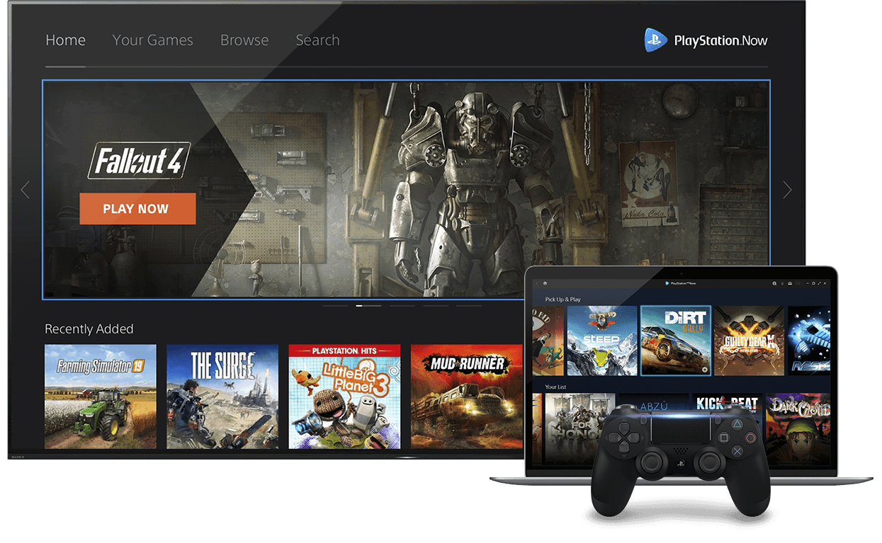 playstation now cloud gaming services