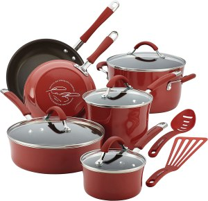 Rachael Ray Cucina Nonstick Cookware Pots and Pans Set, best gifts for wife