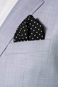 rare cut pocket square,