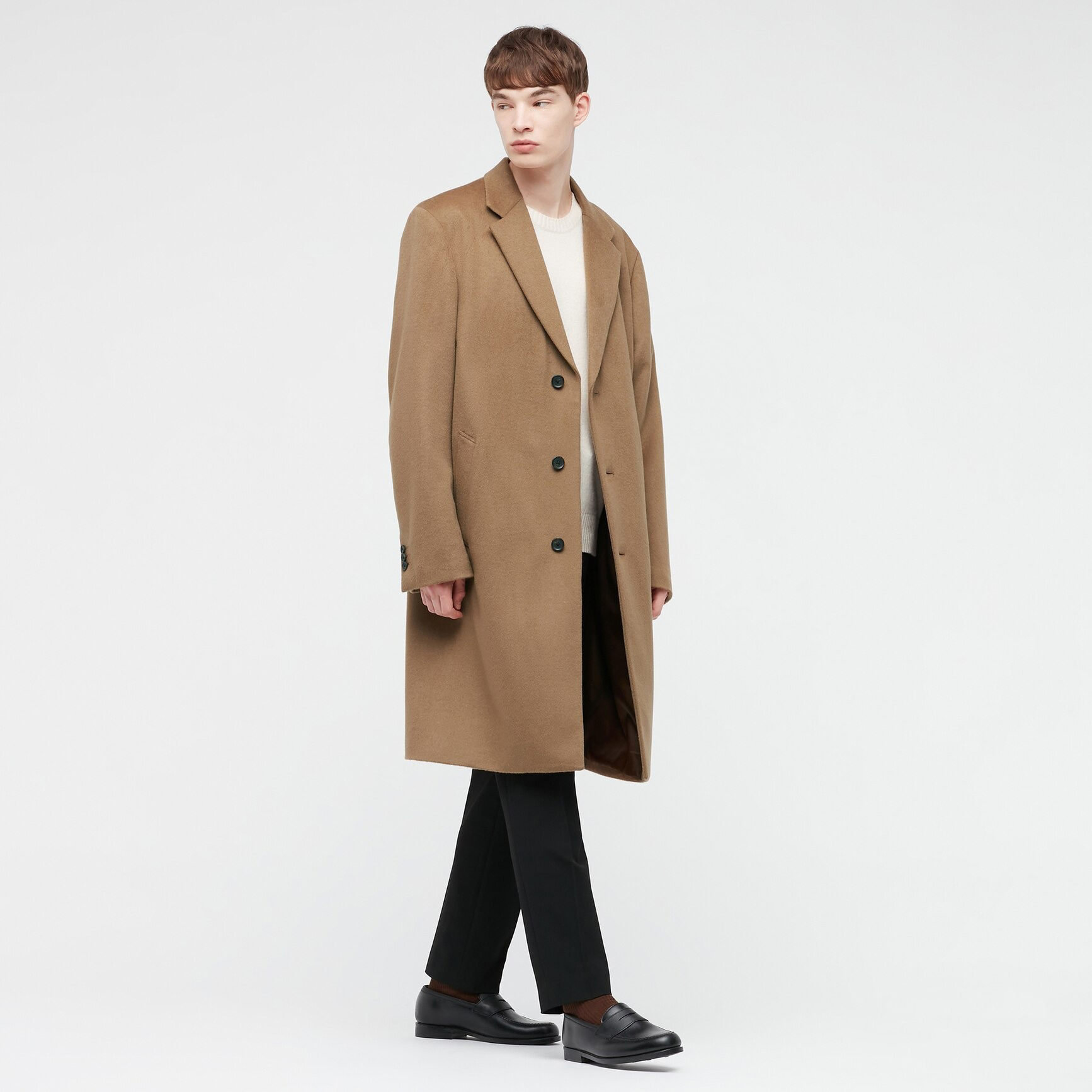 Uniqlo Wool Cashmere Chesterfield Winter Coat