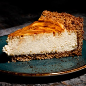 Cotton Blues Sea-Salted Caramel Swirl Cheesecake