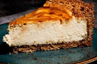 Cotton Blues Sea-Salted Caramel Swirl Cheesecake
