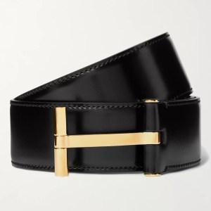Tom Ford 4cm Polished-Leather Belt
