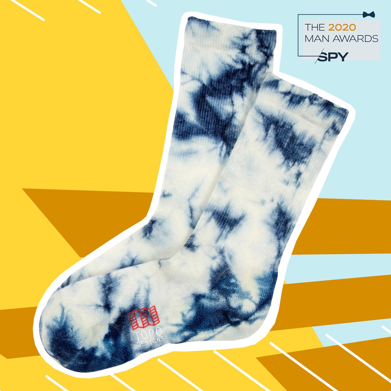 Tie-Dye Merino Socks from topo designs, best men's accessories of 2020