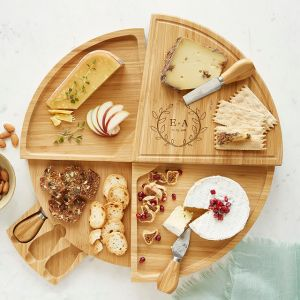 personalized swivel cheese board, gifts for wife