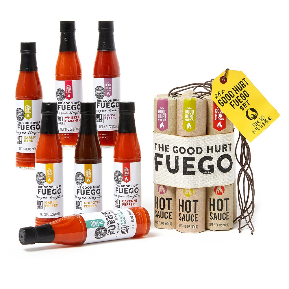 the good hurt fuego hot sauce gift set, best Christmas gifts