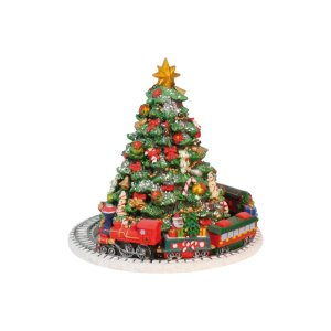 the holiday aisle christmas tree with train