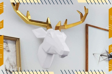 Resin Deer Head Sculpture