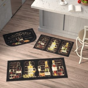 bella three piece chalkboard wine set