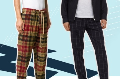 Men's plaid pants
