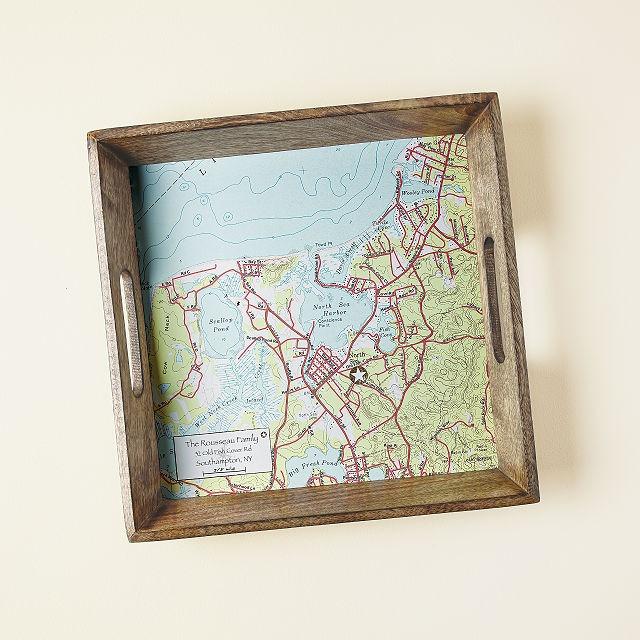 Custom Map Serving Tray