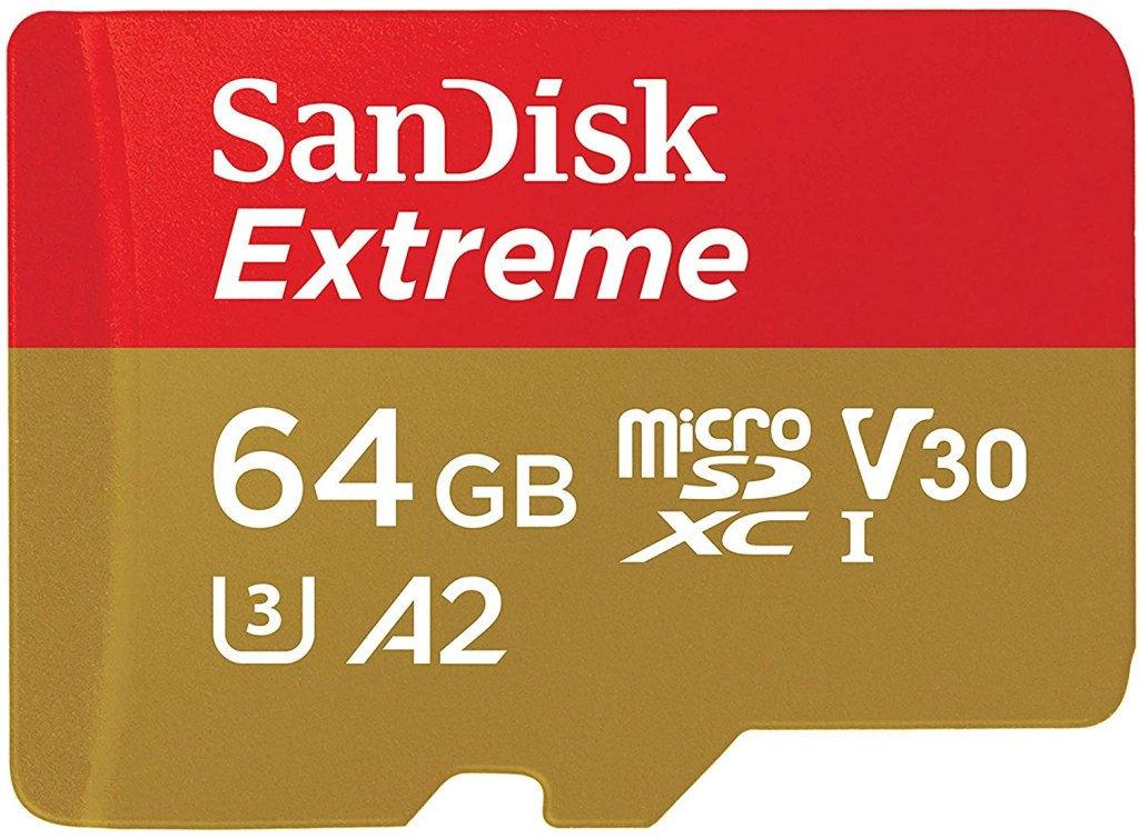 64 GB SanDisk Extreme, best microsd cards