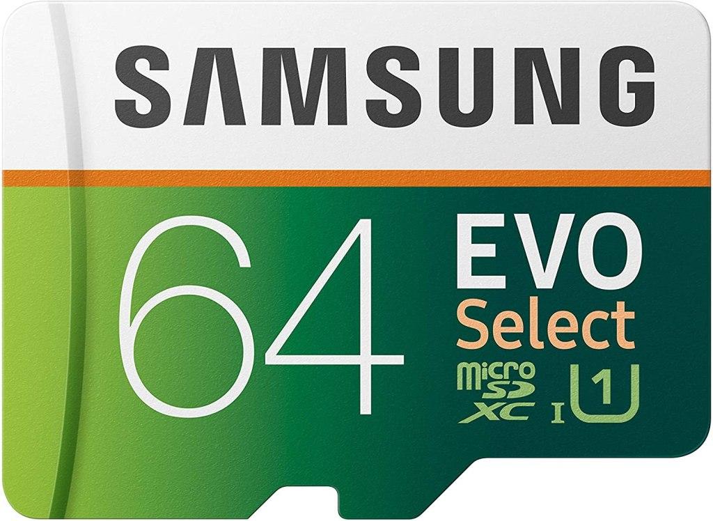 64 GB Samsung Evo Select microSD Card, best microsd cards