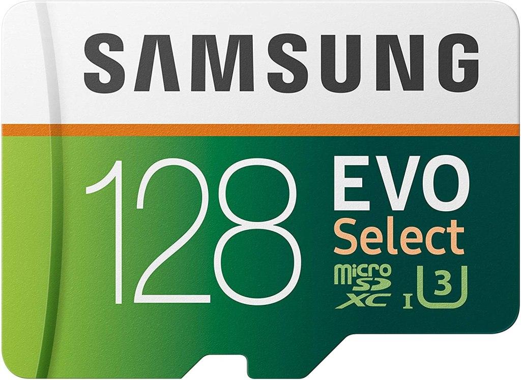 128 gb Samsung Evo Select, best microsd cards