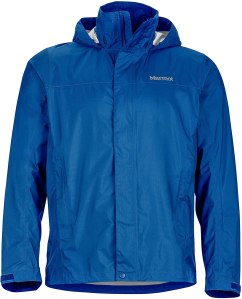 MARMOT men's rain jacket, exercising outdoors in the winter