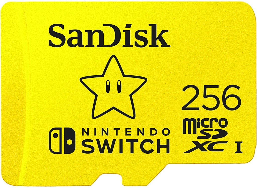 256 GB SanDisk, best MicroSD Card for Nintendo Switch