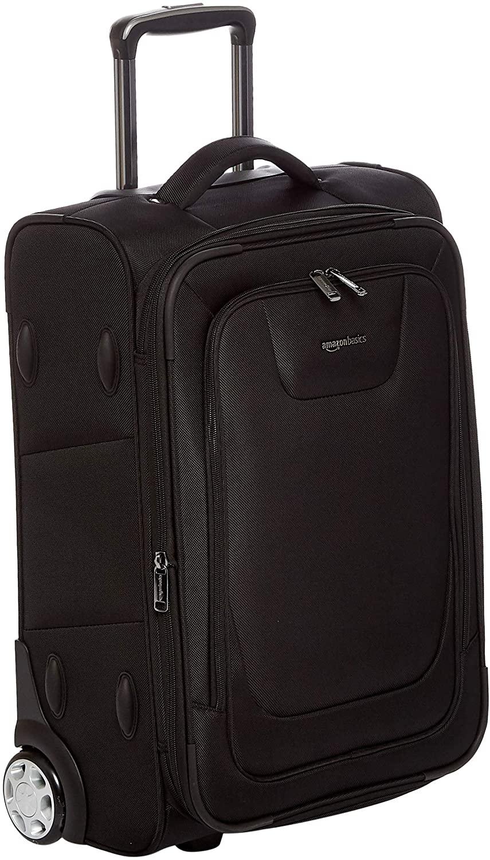 Black Amazon Basics Expandable Softside Carry-on Rolling Suitcase, best rolling suitcases