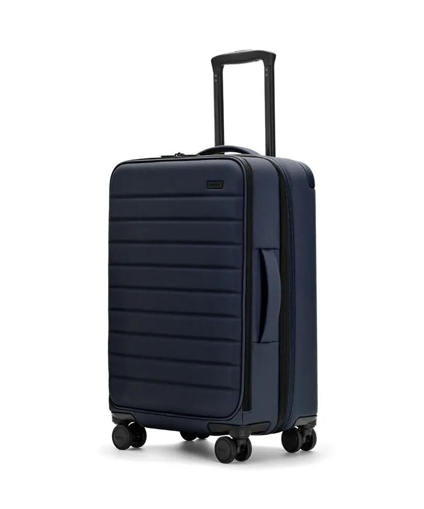 Away The Expandable Bigger Carry-On Rolling Suitcase in blue