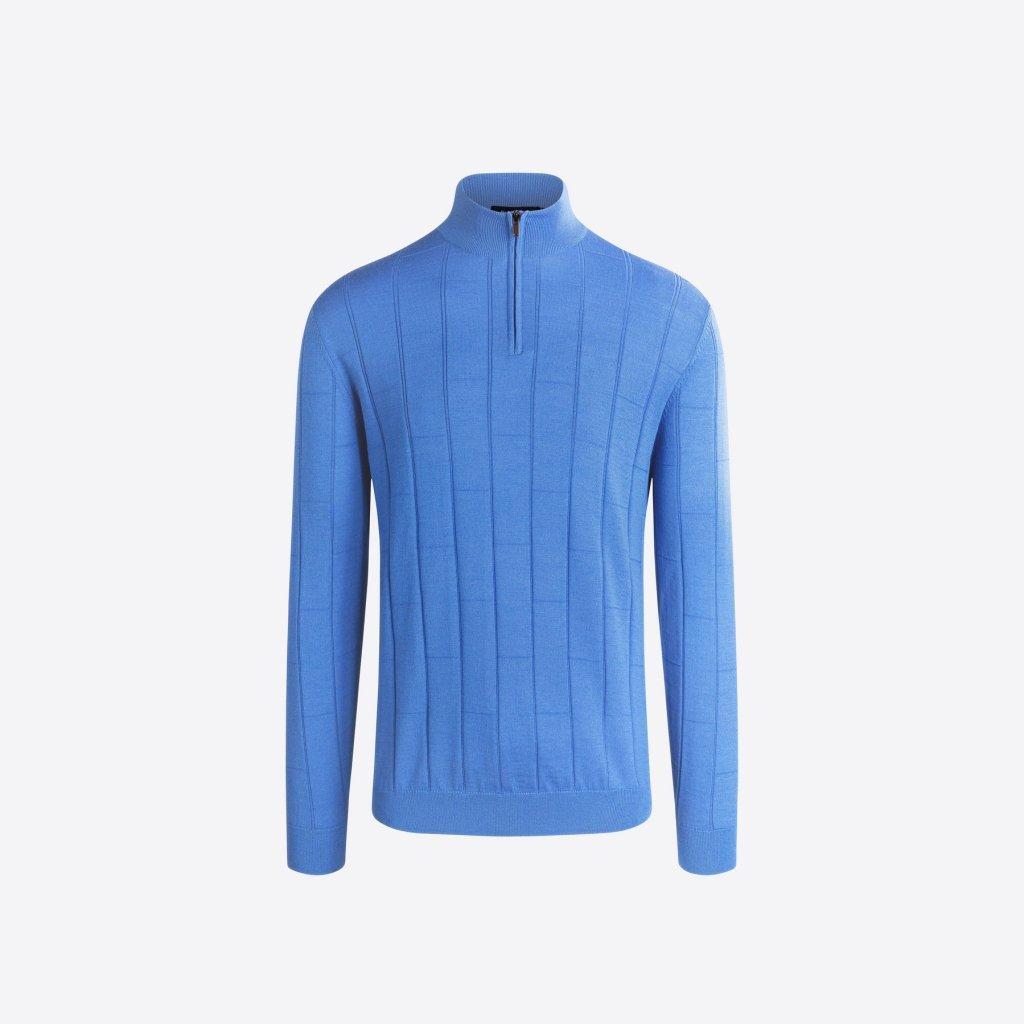 Bugatchi Half Drop Zip Mock Neck Sweater, best sweaters