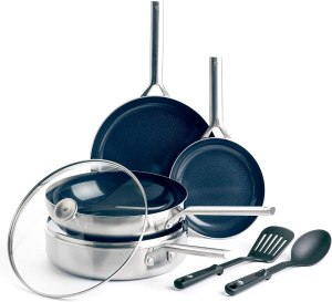blue diamond cookware triple steel - stainless steel cookware