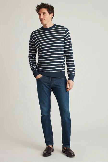 Bonobos-navy-striped-linen-sweater