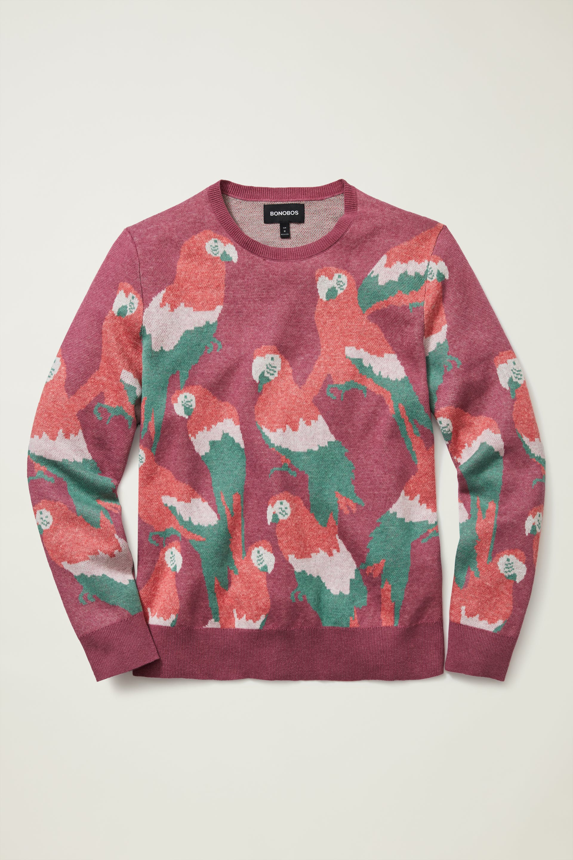 Bonobos Limited Edition Crew Neck Sweater in Pretty Birds, best sweaters