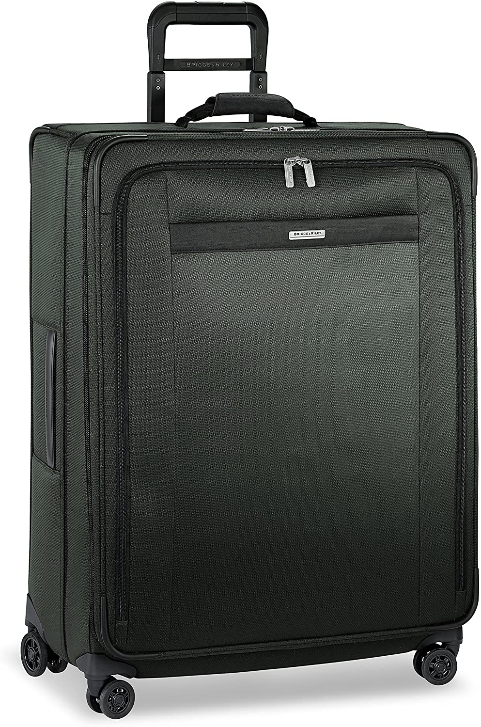 Briggs & Riley Softside Expandable Spinner Rolling Suitcase in rainforest