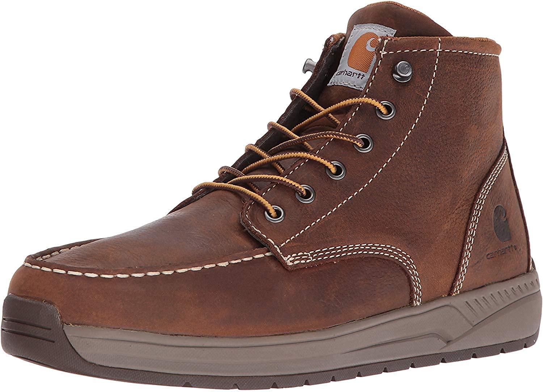 Carhartt-Mens-CMX4023-Lightweight-Casual-Wedge-Soft-Moc-Toe in brown