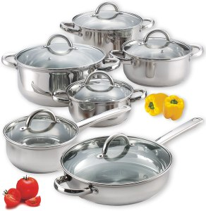 best stainless steel cookware cook n home 12 piece
