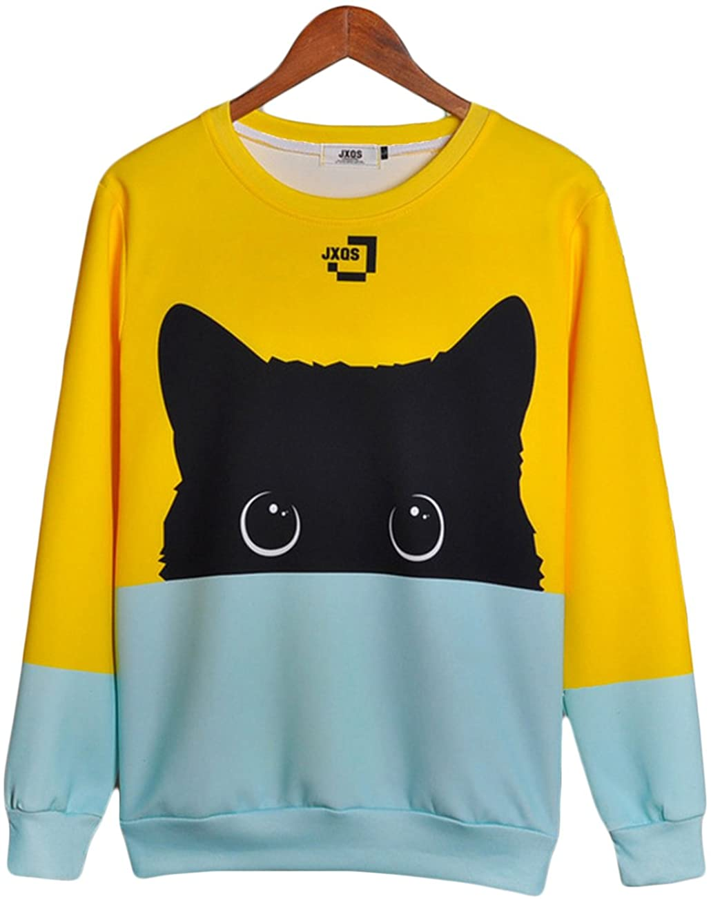 Corirshea-Colorblock-Cat-Unisex-Sweatshirt