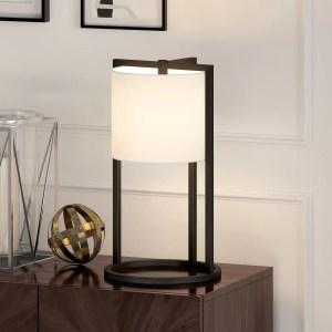 "Wrought Studio Cotta 22"" Blackened Bronze Desk Lamp"