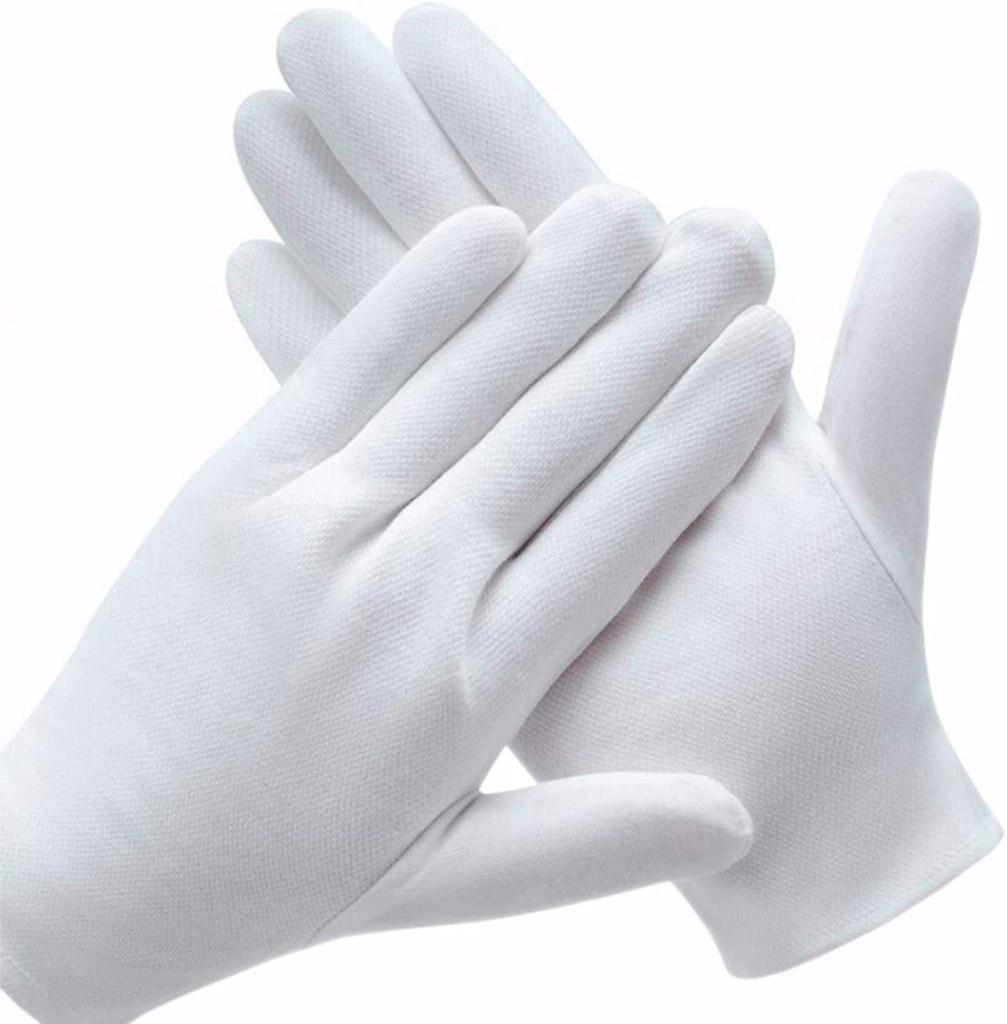 Coyaho White Cotton Gloves