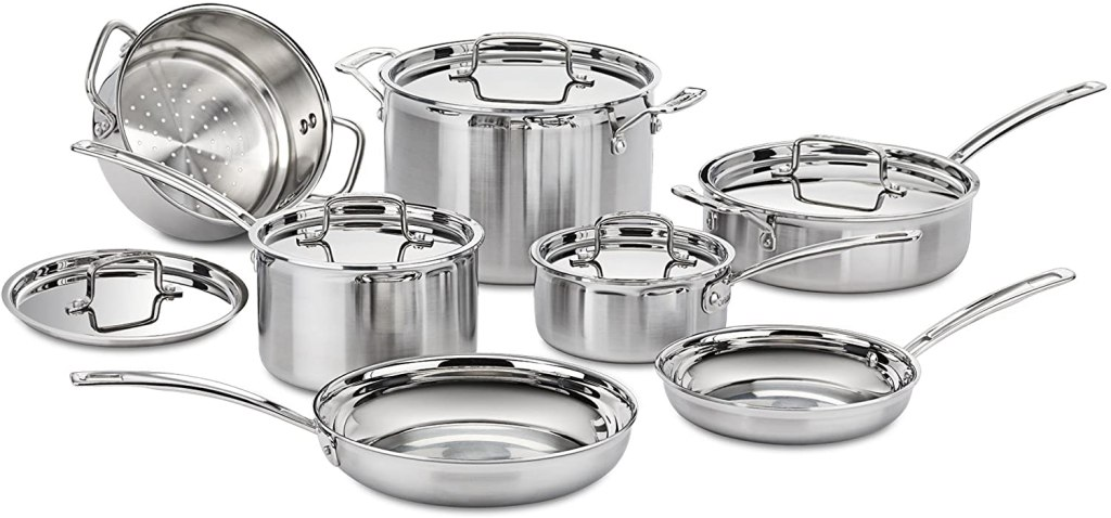 stainless steel cookware cuisinart mcp multiclad