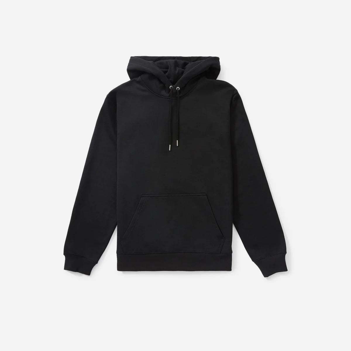 Everlane French Terry Hoodie in black, best hoodie brands
