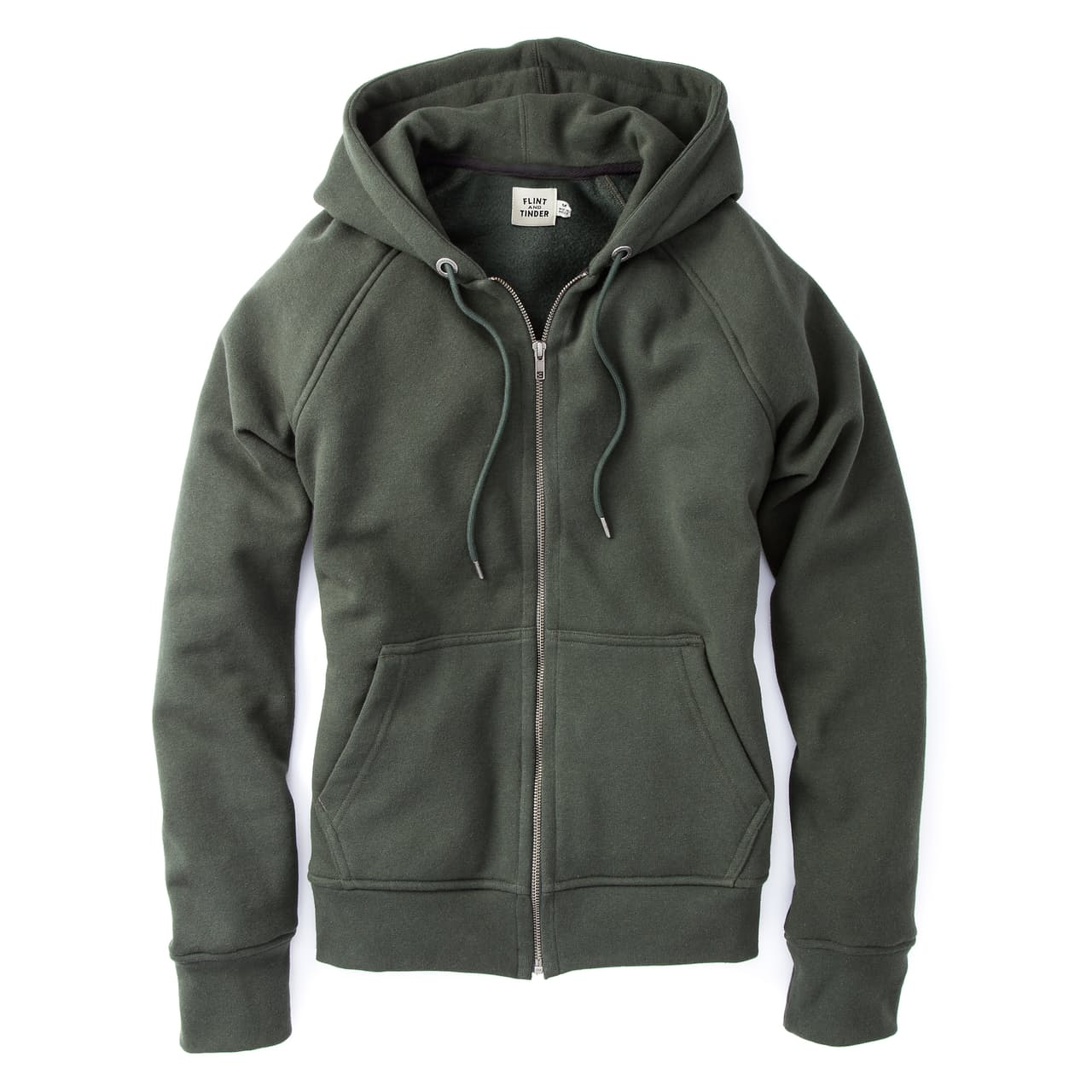 Green Flint and Tinder 10-year hoodie