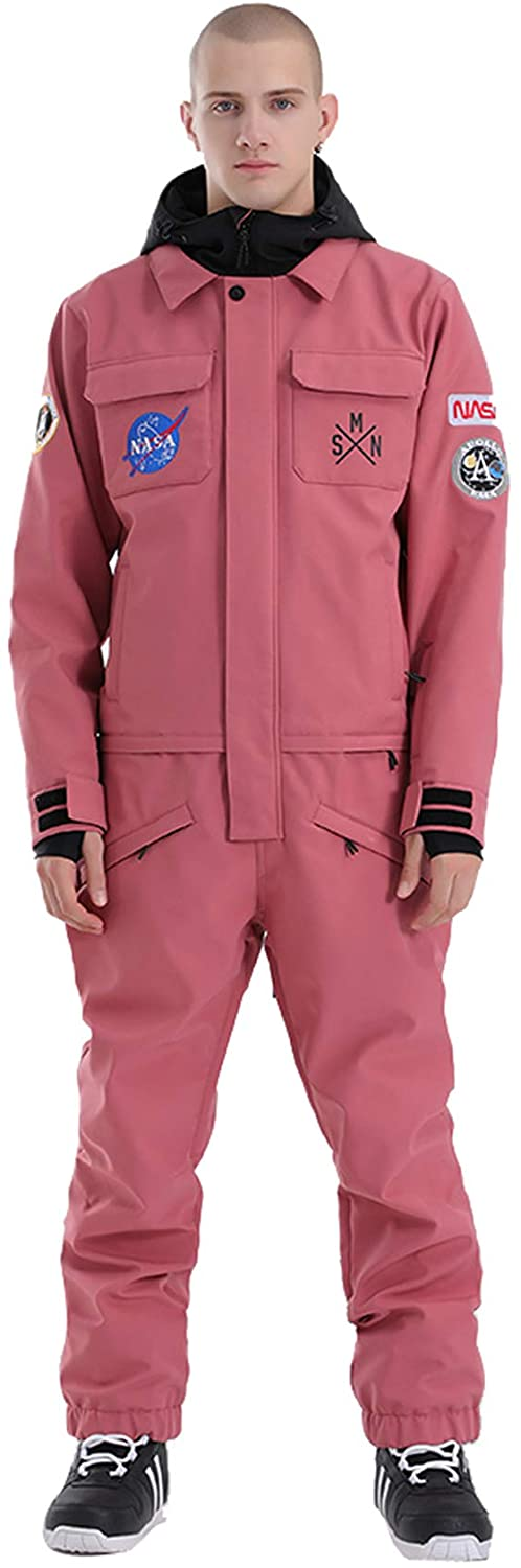 GSou Snow Unisex One Piece Snow Suit in pink, athleisure fashion forecast 2021