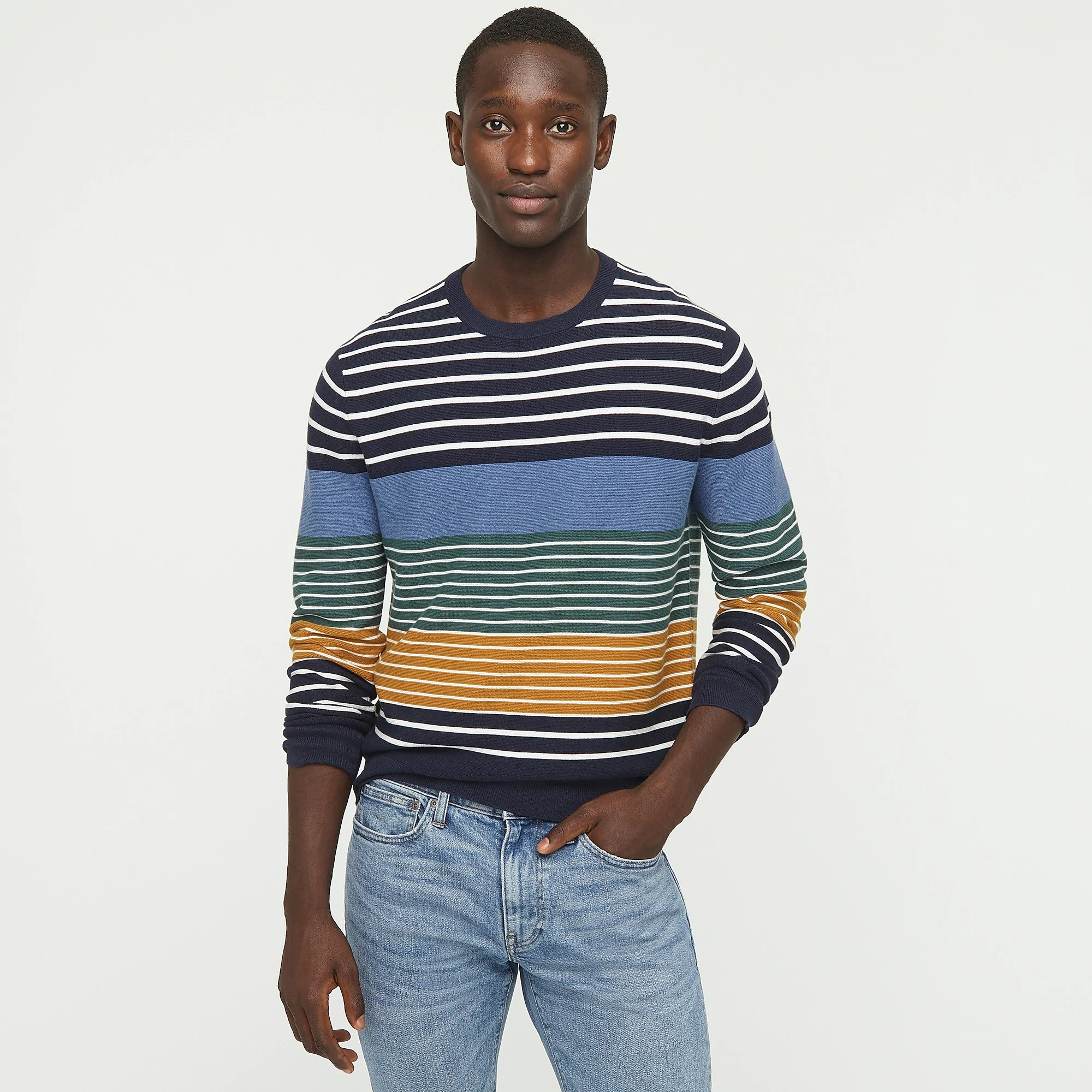J.Crew-Crewneck-Sweater-in-Garter-Stitch stripes