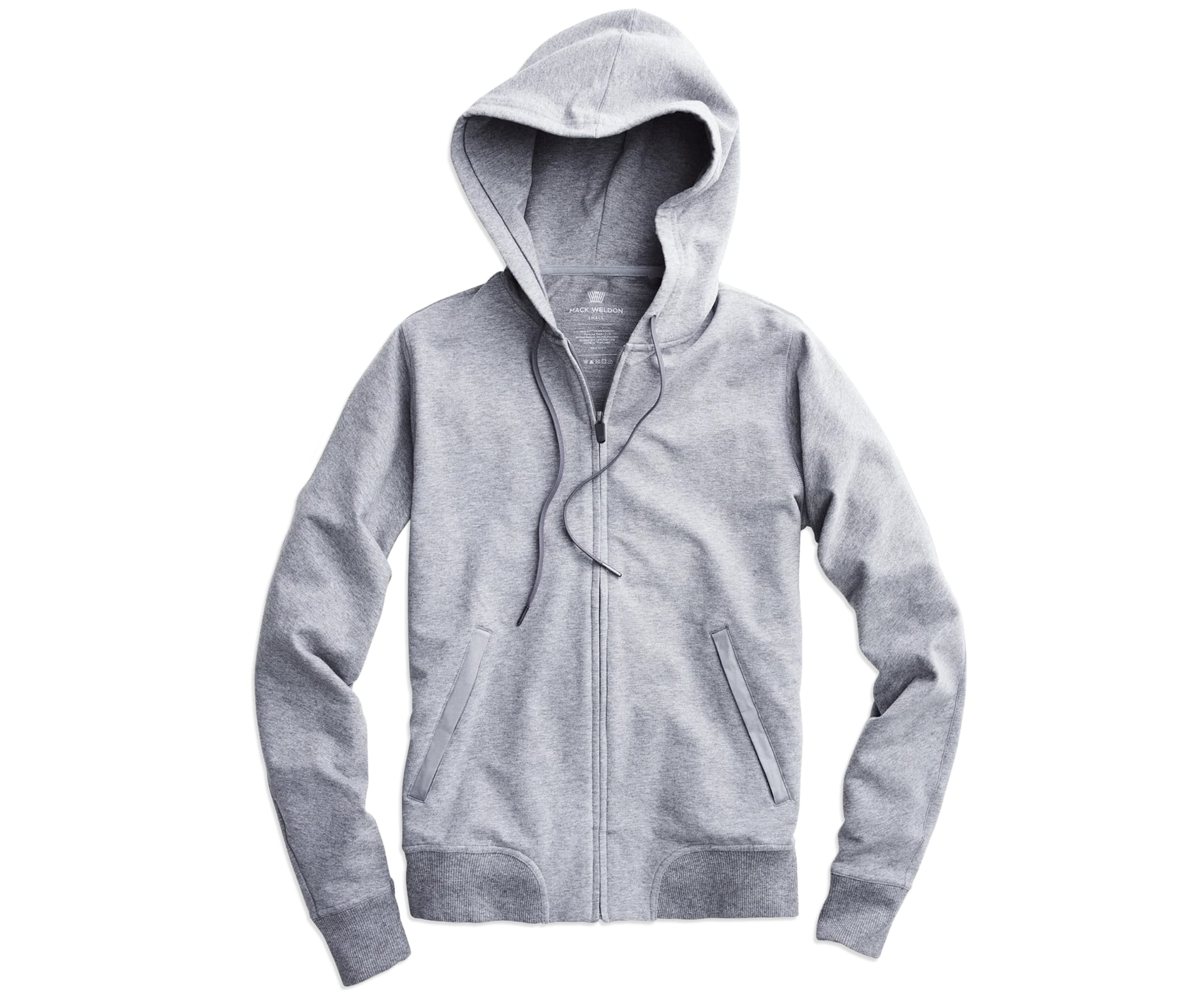Mack Weldon Ace Hooded Sweatshirt in grey