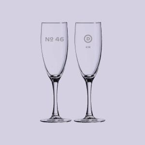biden harris merch no 46 champagne flute