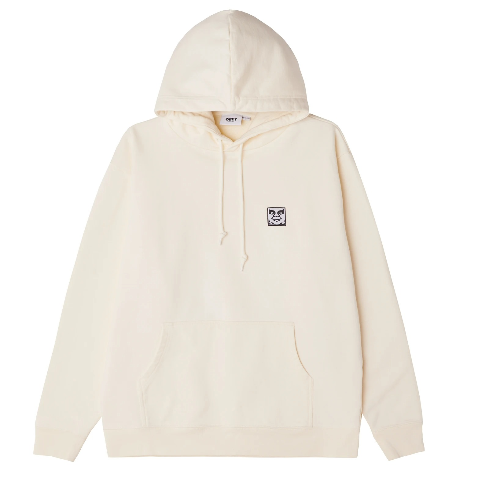 Obey Organic Icon Pullover hoodie in cream