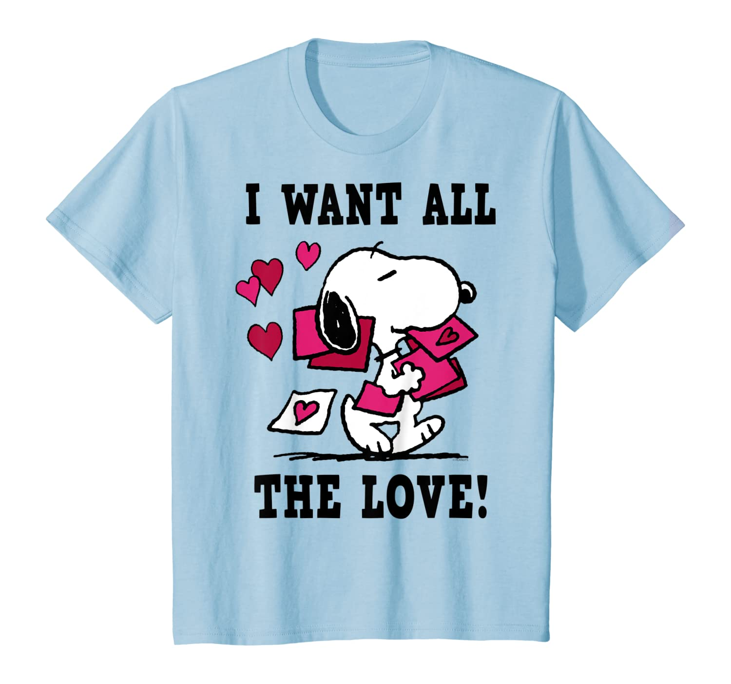 Peanuts-Snoopy-All-the-Love-Valentines-T-Shirt