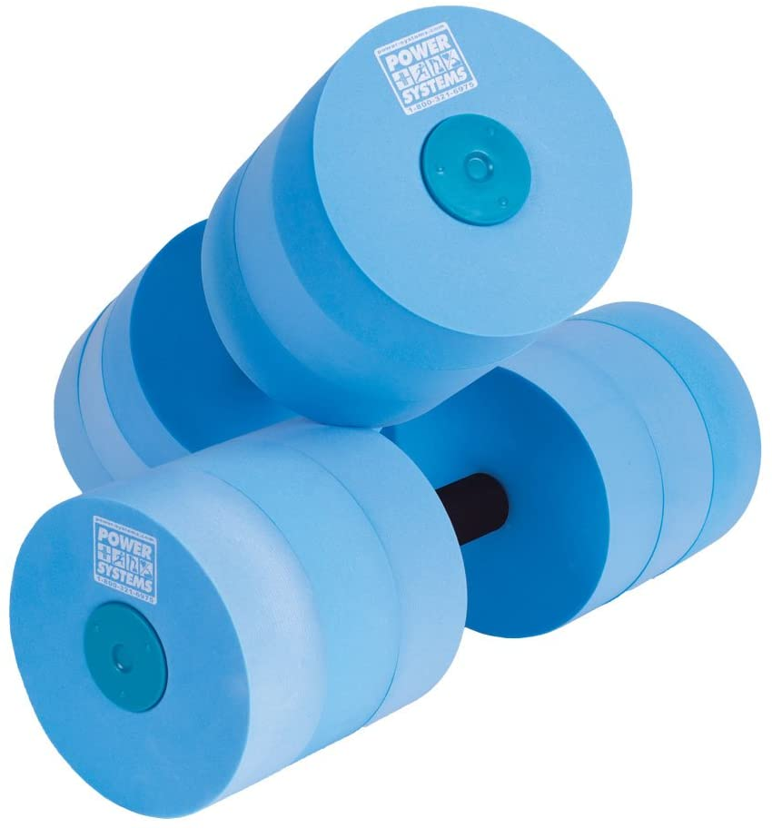 Power Systems Heavy Resistance Water Dumbbells pair with blue foam, best water weights