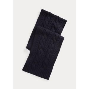 ralph lauren cable-knit cashmere scarf, best men's scarves